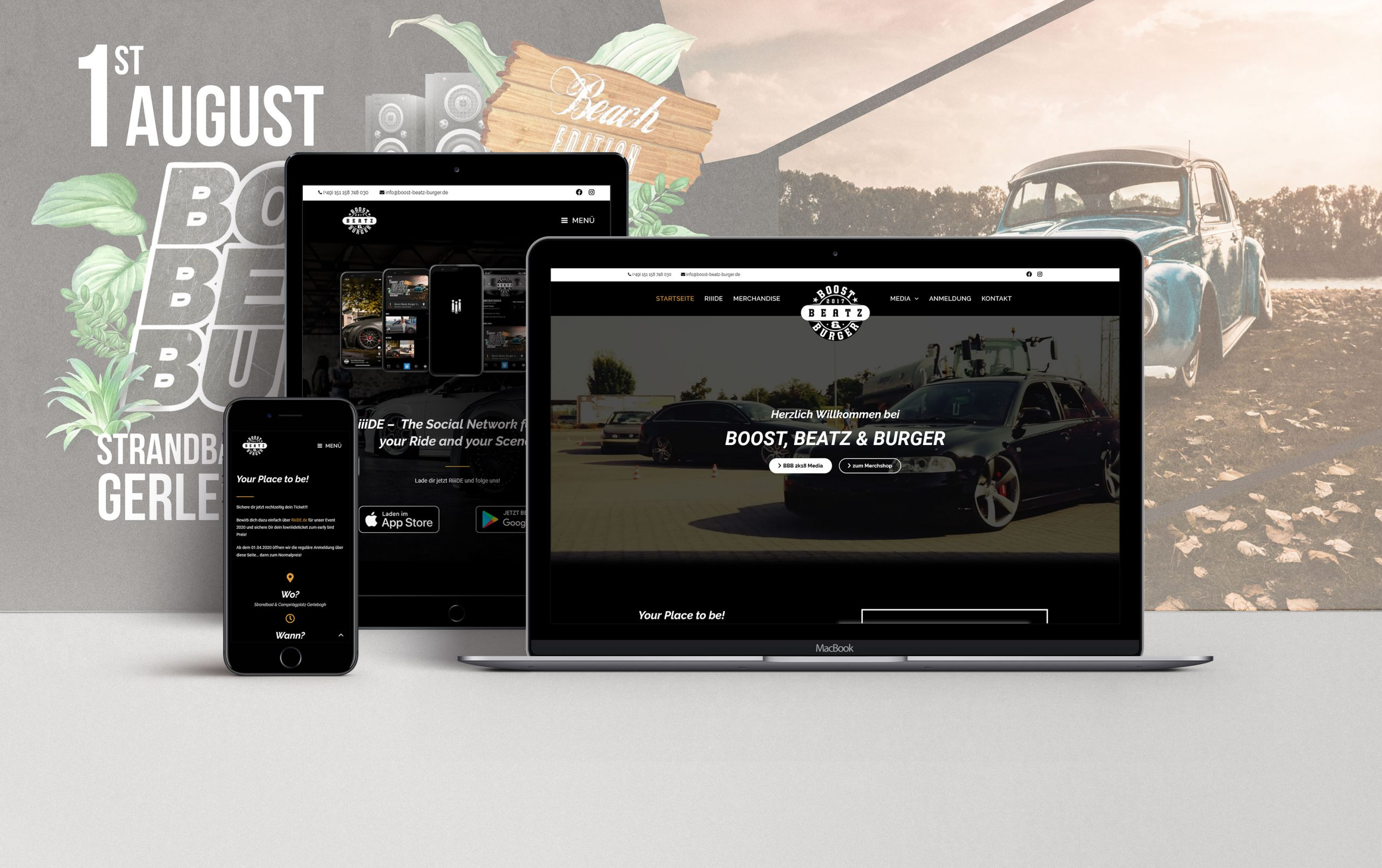 Webdesign Boost, Beatz & Burger