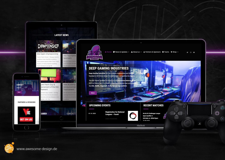 Deep Gaming Industreis - Website Relaunch