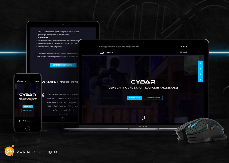 Webdesign CYBAR Halle - Awesome Design - Webdesign