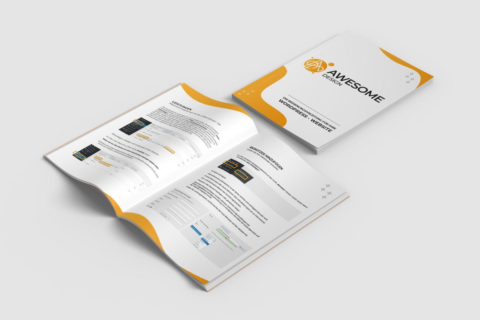 Awesome Design - Bedienungsanleitung WordPress Website
